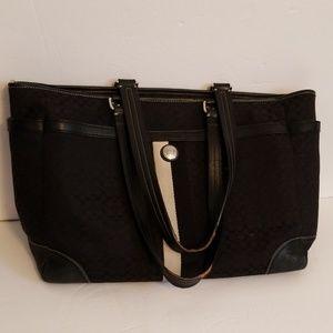 COACH AUTHENTIC BLACK LARGE TOTE SHOULDER BAG